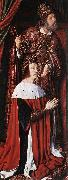 Master of Moulins Pierre de Bourbon and his Patron Saint oil painting picture wholesale
