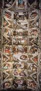 Michelangelo Buonarroti Ceiling of the Sistine Chapel oil painting