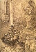 Mikhail Vrubel Still Life with a Candlestick,a carafe,and a glass oil painting picture wholesale