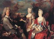 Nicolas de Largilliere The Artist and his Family oil painting artist