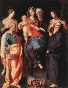 Pontormo, Jacopo Madonna and Child with St Anne and Other Saints oil painting artist