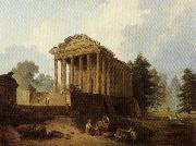 ROBERT, Hubert The Maison Carree at Nimes oil painting picture wholesale