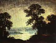 Ralph Blakelock Moonlight Indian Encampment oil painting artist