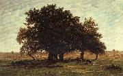 Theodore Roussel Oak Trees near Apremont oil painting picture wholesale