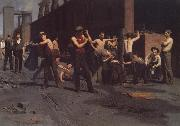 Thomas Anshutz The Ironworkers' Noontime oil painting picture wholesale