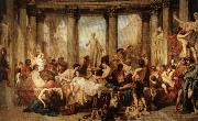 Thomas Couture The Romans of the Decadence oil painting artist