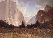 Thomas Hill Bridal Vell Falls,Yosemite oil painting picture wholesale