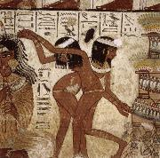 unknow artist Banquet Scent,from th Tomb of Nebamun oil painting picture wholesale