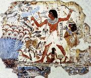 unknow artist Fowling in the Marshes,from the Tomb of Nebamun oil painting picture wholesale