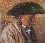 Adolph von Menzel Peasant with a Three-Cornered Hat oil painting picture wholesale