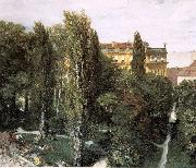 Adolph von Menzel The Palace Garden of Prince Albert oil painting picture wholesale
