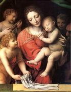 Bernadino Luini The Virgin Carrying the Sleeping Child with Three Angels (mk05) oil painting artist