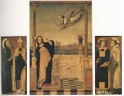 Carlo di Braccesco The Annunciation with Saints A triptych (mk05) oil painting picture wholesale