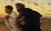 Eugene Burnand The Disciples Peter and John Running to the Sepulchre on the Morning of the Resurrection, c.1898 oil painting picture wholesale