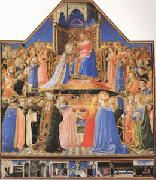 Fra Angelico The Coronation of the Virgin (mk05) oil painting picture wholesale