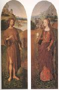 Hans Memling John the Baptist and st mary magdalen wings of a triptych (mk05) oil painting picture wholesale