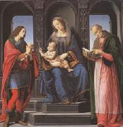 LORENZO DI CREDI The Virgin and child with st Julian and st Nicholas of Myra (mk05) oil painting picture wholesale