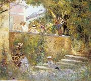 Lebasque, Henri Nono and Marthe in the Garden with Madame Lebasque oil painting picture wholesale