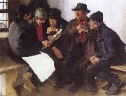Leibl, Wilhelm Peasants in Conversation oil painting picture wholesale