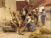 Lhermitte, Leon Harvesters' Country oil painting picture wholesale