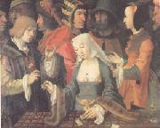Lucas van Leyden The Fortune Teller (mk05) oil painting artist