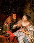 MIERIS, Frans van, the Elder Carousing Couple oil painting picture wholesale