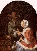 MIERIS, Frans van, the Elder Teasing the Pet oil painting picture wholesale
