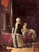 MIERIS, Frans van, the Elder A Young Woman in the Morning oil painting artist