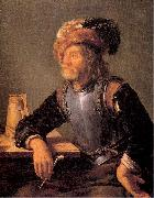 MIERIS, Frans van, the Elder Old Soldier Smoking a Pipe oil painting picture wholesale