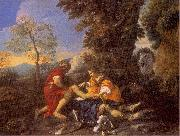 MOLA, Pier Francesco Herminia and Vafrino Tending the Wounded Tancred oil painting picture wholesale