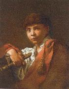 Maggiotto, Domenico Boy with Flute oil painting artist