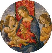Mainardi, Sebastiano Virgin Adoring the Child with Two Angels oil painting picture wholesale