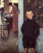 Mathey, Paul Woman Child in an Interior oil painting picture wholesale