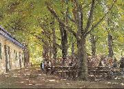 Max Liebermann Country Tavern at Brunnenburg oil painting artist