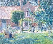 Melchers, Gari Julius The Unpretentious Garden oil painting artist