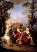 Mercier, Philippe Frederick, Prince of Wales and his Sisters at Kew oil painting artist