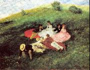 Merse, Pal Szinyei Picnic in May oil painting artist
