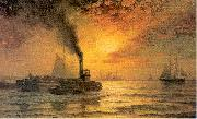 Moran, Edward New York Harbor oil painting artist