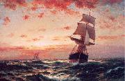 Moran, Edward Ships at Sea oil painting artist