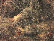 Moran, Thomas Slaves Escaping Through the Swamp oil painting artist