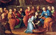 Mota, Jose de la Christ Washing the Feet of the Disciples oil painting picture wholesale