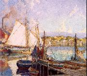 Mulhaupt, Frederick John Summer, Gloucester Harbor oil painting picture wholesale