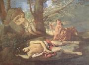 Nicolas Poussin E-cho and Narcissus (mk05) oil painting picture wholesale