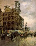 Nittis, Giuseppe de The Place des Pyramides oil painting picture wholesale