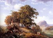 Oehme, Ernst Ferdinand An Autumn Afternoon near Bilin in Bohemia oil painting picture wholesale