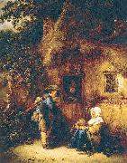 Ostade, Isaack Jansz. van Traveller at a Cottage Door oil painting picture wholesale