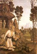 PERUGINO, Pietro St. Jerome in the Wilderness oil painting picture wholesale