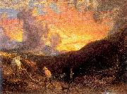 Palmer, Samuel Ploughing at Sunset oil painting picture wholesale