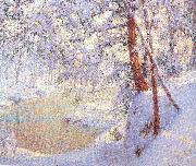 Palmer, Walter Launt Winter Light and Shadows oil painting artist