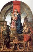 Palmezzano, Marco Virgin and Child Enthroned between Saints John the Baptist and Jerome oil painting picture wholesale